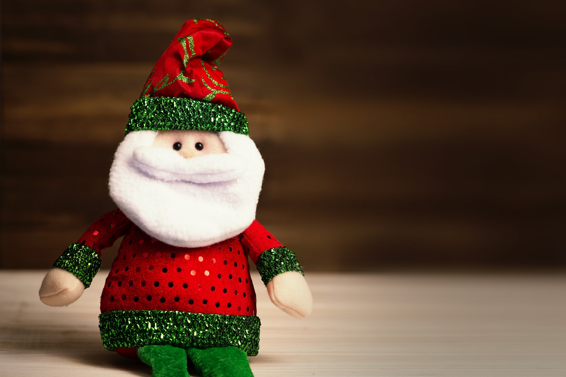 Image credit: https://www.pexels.com/photo/santa-claus-plush-toy-1556679/